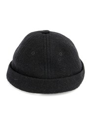 11 By Boris Bidjan Saberi Turn Up Brim Hat Black