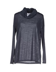 Rossopuro Topwear T Shirts Women Steel Grey