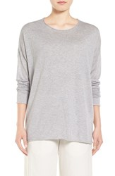 Eileen Fisher Women's Tencel And Organic Cotton Blend Sweater Dark Pearl