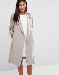 Supertrash Jasa Belt Detail Trench Jacket Beige