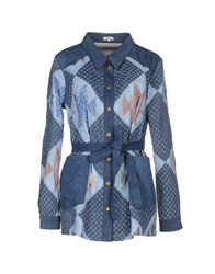 Manoush Denim Denim Shirts Women Blue
