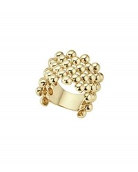 Lagos 18K Gold Caviar Wide Band Ring