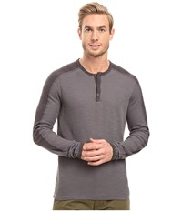 Agave Calico Long Sleeve Slub Color Block Eiffel Tower Men's Long Sleeve Pullover Gray