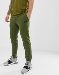 Nike Training Tapered Joggers In Khaki 860371 395 Green