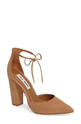 Steve Madden Women's 'Pamperd' Lace Up Pump Tan Nubuck Leather