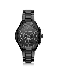 Karl Lagerfeld Optik Black Stainless Steel Women's Chronograph Watch