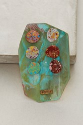 Anthropologie Painted Metals Earring Set Turquoise