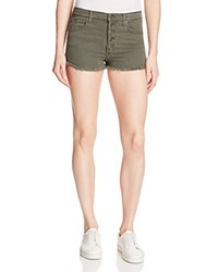 Black Orchid Button Front Denim Shorts In Fall In Line