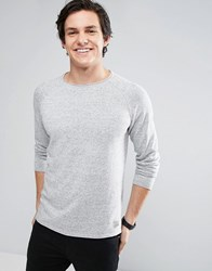 Jack And Jones Vintage Raglan Jumper Light Grey Melange