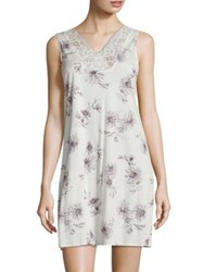 Hanro Camil Cotton Tank Gown Fragile Flowers