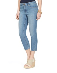 Lauren Ralph Lauren Petite Super Stretch Classic Straight Cropped Perry Wash Jeans Blue