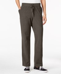 Karen Scott Petite Drawstring Active Pants Only At Macy's Brown Clay