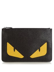 Fendi Bag Bugs Leather Pouch Black Multi