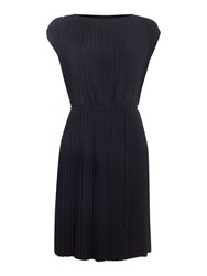 Biba Fully Pleated Tie Waist Dress Black