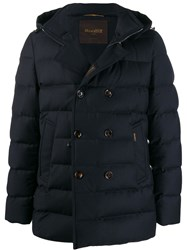 Moorer Padded Double Breasted Jacket Blue