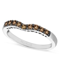 Le Vian Chocolate Diamond Wedding Band 1 3 Ct. T.W. In 14K White Gold