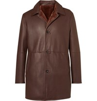 Connolly Shearling Coat Brown