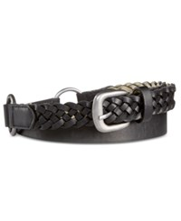 Styleandco. Style And Co. Mixed Media Skinny Woven Hip Stations Belt Only At Macy's Sand