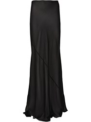 Ellery Long Sheer Skirt Black