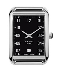 Tom Ford Medium Polished Stainless Steel Watch Head Black Silver