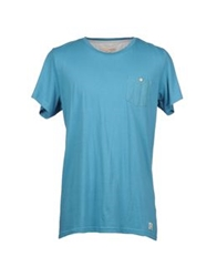 Suit Short Sleeve T Shirts Turquoise