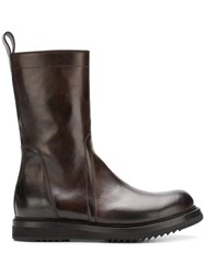 Rick Owens High Ankle Boots Brown