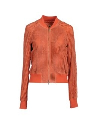 Annarita N. Leather Outerwear Orange