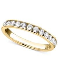 Macy's Diamond Band Ring In 14K White Gold 1 2 Ct. T.W. Yellow Gold
