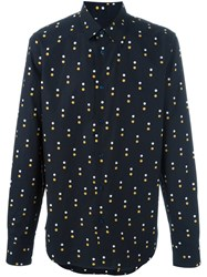 Marni Dot Print Shirt Blue