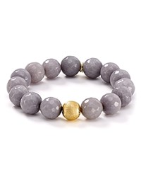 Bourbon And Boweties Stretch Bracelet Gray Gold