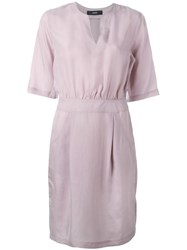 Diesel Belt Detail Shift Dress Pink Purple