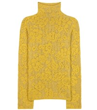 Etro Wool And Mohair Blend Turtleneck Sweater Yellow