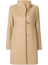 Fay Button Down Coat Women Acrylic Polyamide Viscose Virgin Wool L Nude Neutrals