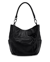 Liebeskind Jeany E Vintage Leather Hobo Black Gunmetal