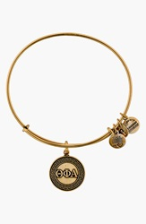 Alex And Ani 'Collegiate Theta Phi Alpha' Expandable Charm Bangle Russian Gold