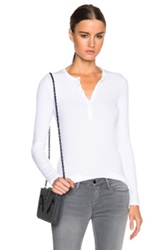 Atm Anthony Thomas Melillo Rib Henley Tee In White
