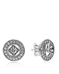 Pandora Design Earrings Sterling Silver And Cubic Zirconia Detachable Studs
