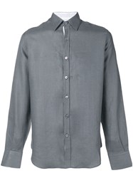 Canali Button Up Shirt Grey