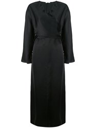 The Row Wrap Front Dress Black