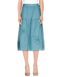 Blue Les Copains Skirts 3 4 Length Skirts Women