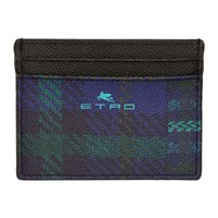 Etro Blue Logo Card Holder