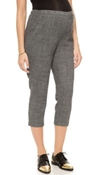 Hatch The Cropped Pants Black White Plaid Houndstooth