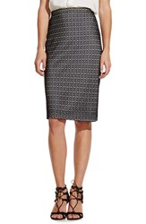 Women's Vince Camuto Mesh Midi Tube Skirt Rich Black