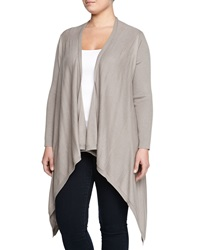 Neiman Marcus Long Sleeve Soft Knit Cardigan Driftwood