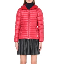 Hunter Hooded Short Quilted Coat Military Red