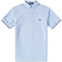 Fred Perry Woven Collar Polo Grey