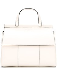 Tory Burch Lined Shoulder Bag White