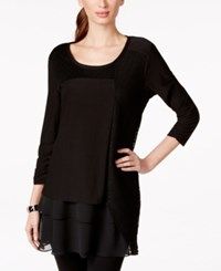 Styleandco. Style And Co. Mixed Media Tunic Top Only At Macy's