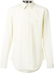 Burberry Brit Long Sleeve Button Down Shirt Yellow And Orange