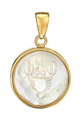 Asha Women's Zodiac Mother Of Pearl Charm Cancer